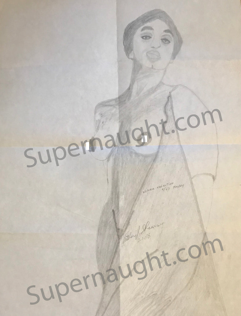 Arthur Shawcross Topless Victoria Valentino Portrait Signed