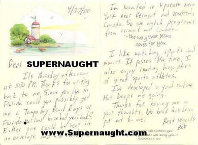 Robert Shulman greeting card signed - Supernaught True Crime Collectibles