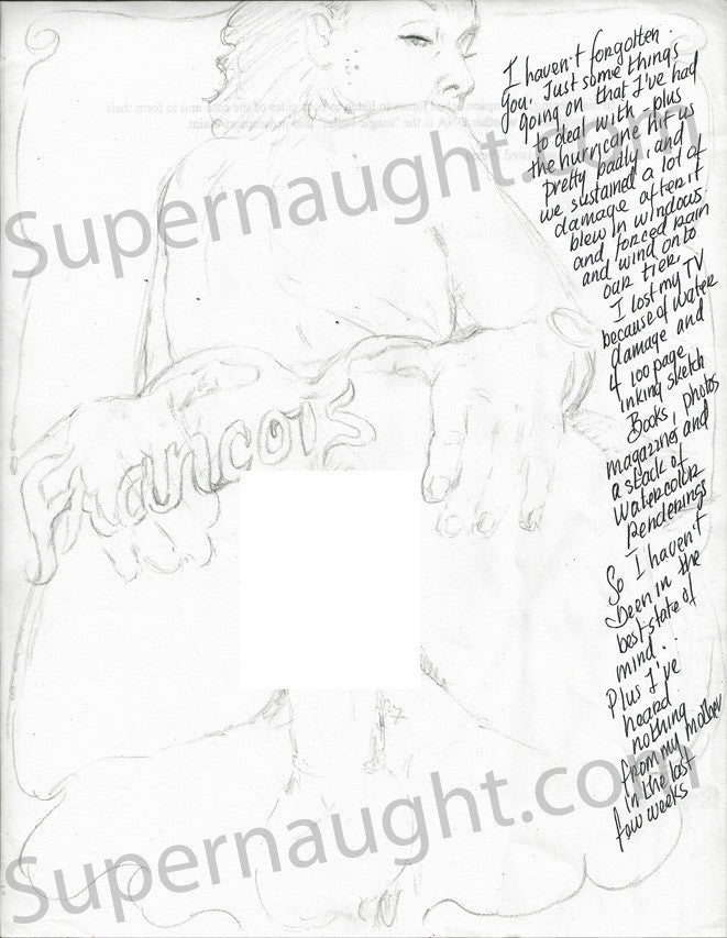 Daniel Siebert Erotic Drawing - Supernaught True Crime Collectibles