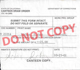 Sirhan Sirhan canteen draw order signed Sirhan Sirhan - Supernaught True Crime Collectibles - 1