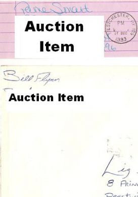 Pamela Smart and Billy Flynn prison envelopes both signed - Supernaught True Crime Collectibles