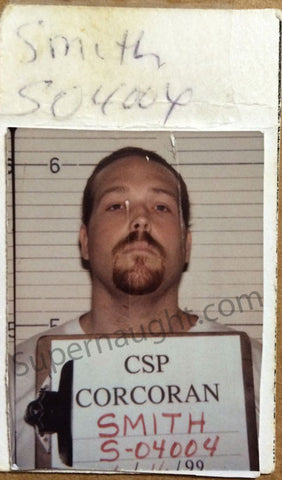 Anthony Wolfe Signed Booking Photo Donald and Timothy Young California Death Row