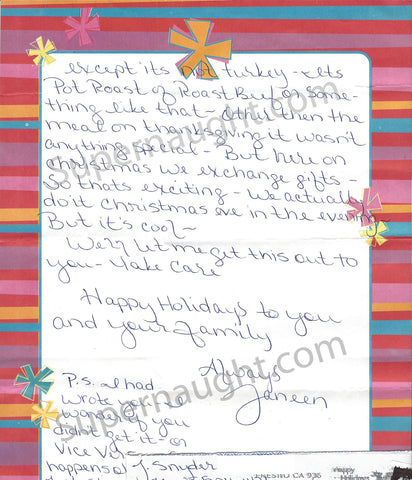 Janeen Snyder death row letter California