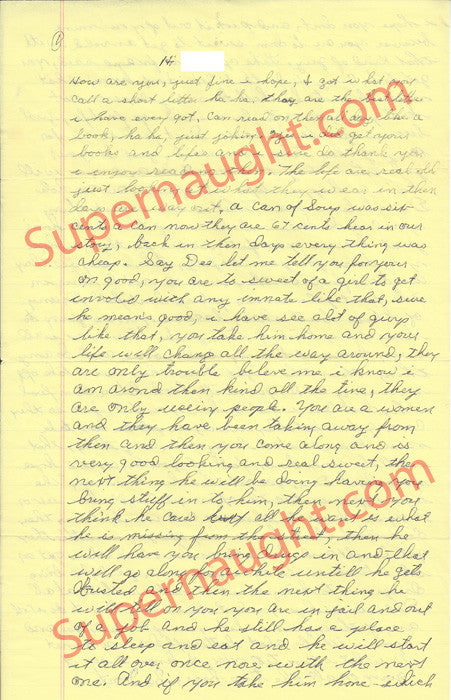 Richard Speck prison letter signed