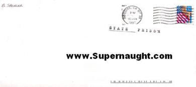 Brenda Spencer Prison Envelope Signed - Supernaught True Crime Collectibles