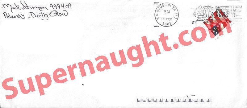 Mark Stroman executed killer envelope signed - Supernaught True Crime Collectibles