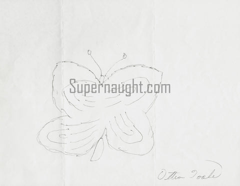 Ottis Toole Butterfly Drawing Signed