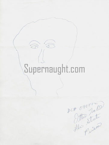 Ottis Toole Portrait Drawing Signed