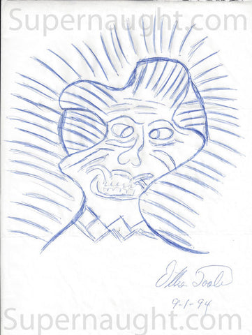 Ottis Toole demon artwork signed - Supernaught True Crime Collectibles