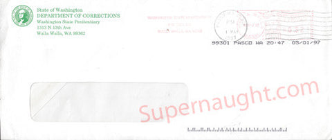 Washington Department of Corrections Envelope