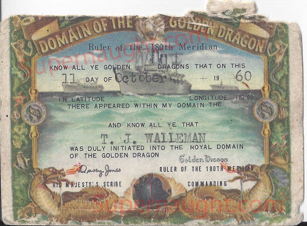 Thomas Walleman Vintage Domain of the Golden Dragon Card - Supernaught True Crime Collectibles - 1