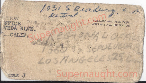 Thomas Walleman aka TJ the Terrible Veterans Administration Card - Supernaught True Crime Collectibles - 1