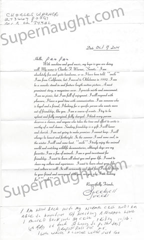 charles warner signed letter executed murderer oklahoma
