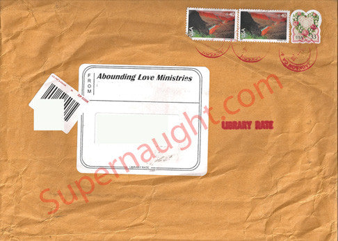 Charles Tex Watson Abounding Love Ministries envelope - Supernaught True Crime Collectibles