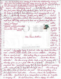 Aileen Wuornos autographed letter charlize theron monster female serial killer