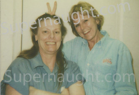 Aileen Wuornos with childhood friend photo taken on death row - Supernaught True Crime Collectibles