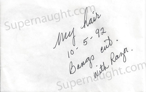 Aileen Wuornos hair from her head in sealed envelope - Supernaught True Crime Collectibles
