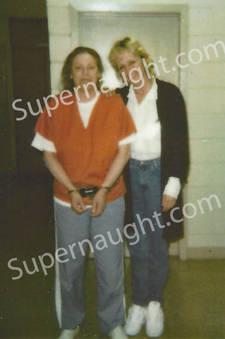 Aileen Wuornos prison photo with dawn botkins taken the night before her execution