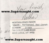Nathaniel Bar-Jonah letter and envelope set both signed - Supernaught True Crime Collectibles - 2
