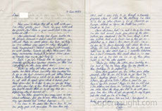 Cesar Barone two page letter signed - Supernaught True Crime Collectibles