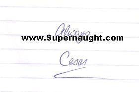 Cesar Barone letter and envelope set both signed - Supernaught True Crime Collectibles