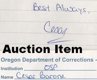 Cesar Barone letter signed and envelope set both signed - Supernaught True Crime Collectibles