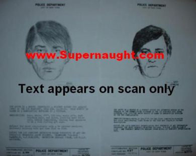 Son of Sam David Berkowitz two replica wanted posters - Supernaught True Crime Collectibles