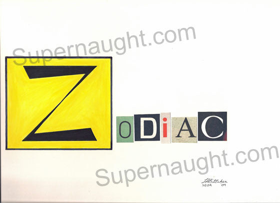 Lawrence Bittaker Zodiac Killer Signed Artwork