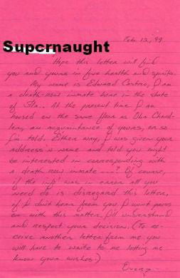 Edward Castro four page letter signed four times - Supernaught True Crime Collectibles
