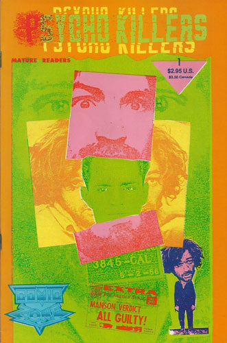 Charles Manson Psycho Killers 1992 Comic Book - Supernaught True Crime Collectibles