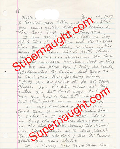 Faye Copeland Signed Prison Letter Death Row