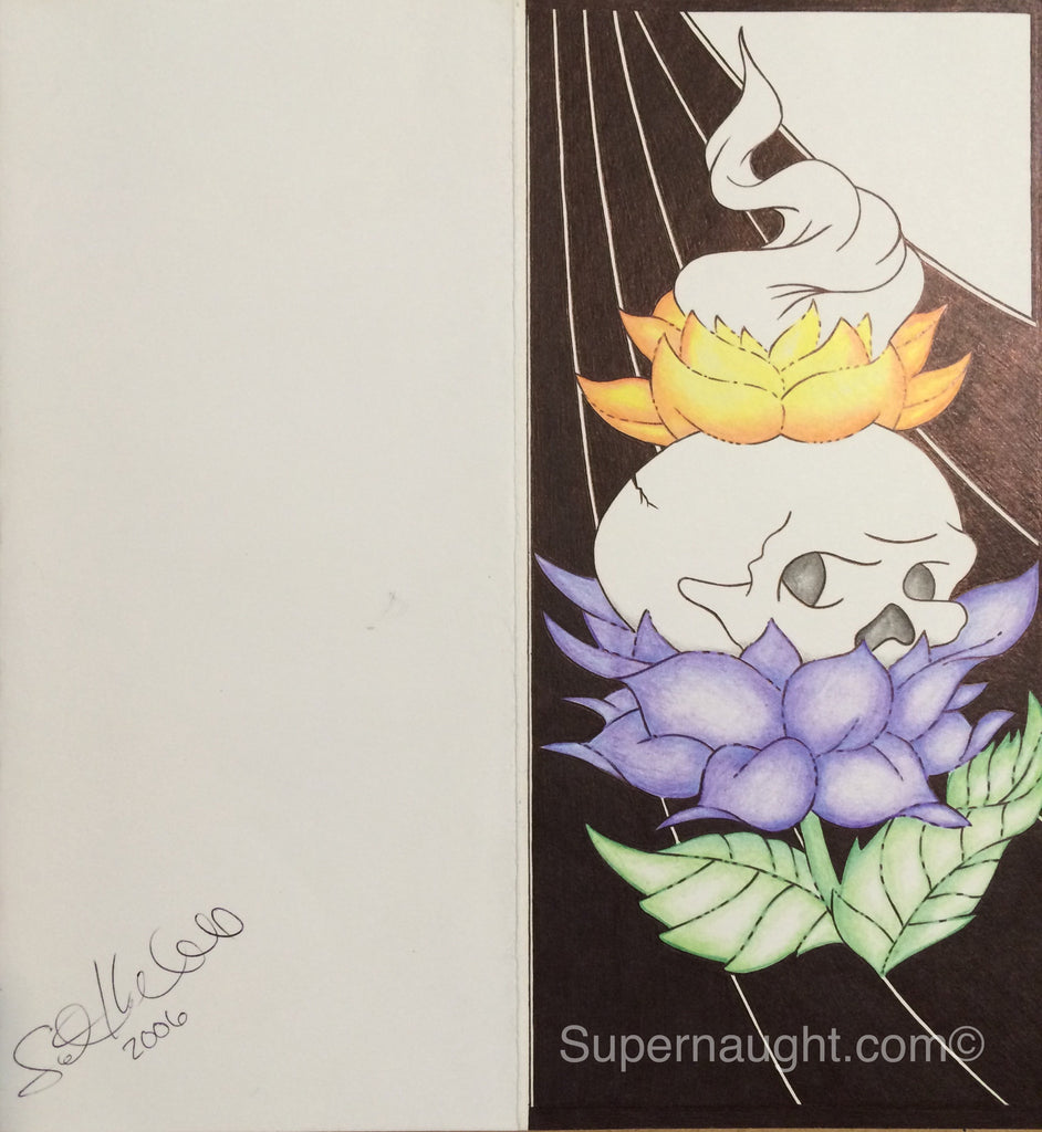 Scott Kimball Skull Artwork Signed and Dated - Supernaught True Crime Collectibles