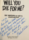 Charles Tex Watson Signed Will You Die For Me 1978 Hardcover Manson Family