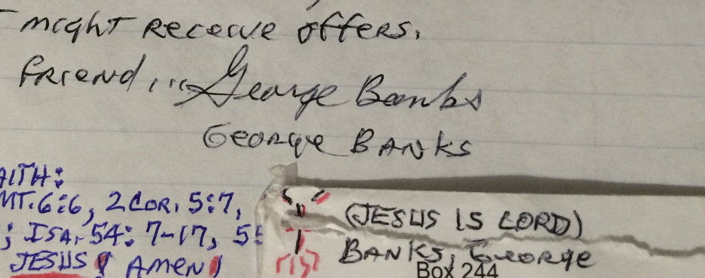 George Banks Letter and Envelope Set Both Signed - Supernaught True Crime Collectibles