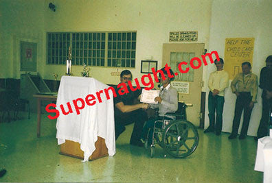 Ed Kemper 1980's blind project award Vacaville photo - Supernaught True Crime Collectibles