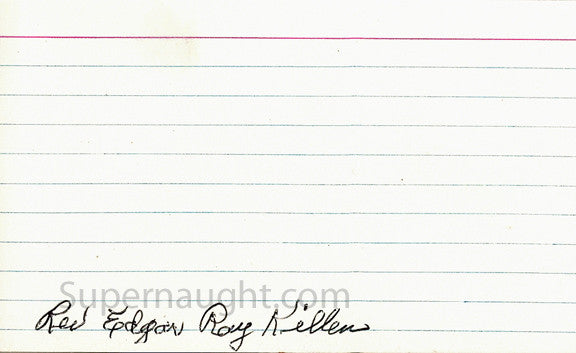 Edgar Ray Killen index card signed - Supernaught True Crime Collectibles