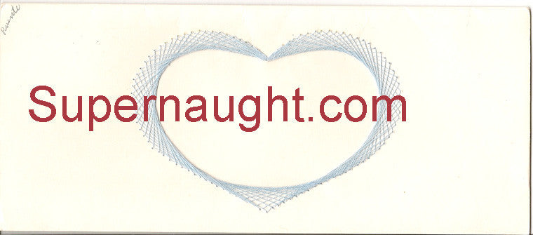Dorothea Puente handmade card signed and dated - Supernaught True Crime Collectibles - 1