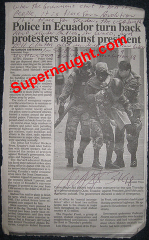Angel Resendiz newspaper article signed Angel - Supernaught True Crime Collectibles