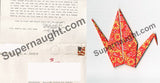Heriberto Seda letter with Zodiac symbol origami and envelope - Supernaught True Crime Collectibles - 2