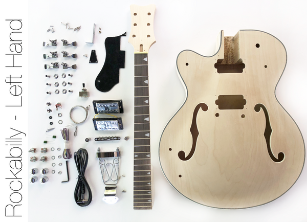 diy electric guitar kit left hand hollow body build your own guitar the fretwire. Black Bedroom Furniture Sets. Home Design Ideas