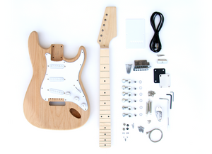 DIY Electric Guitar Kit - ST Style Build Your Own Guitar Alder Body Maple Neck