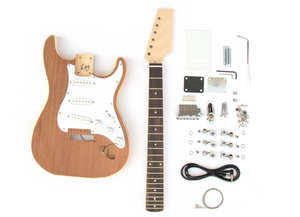 DIY Electric Guitar Kit - ST Style Sapele Top Build Your Own Guitar