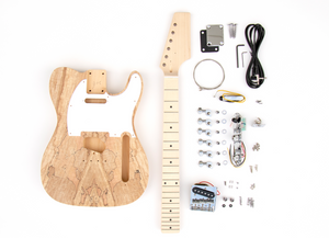 DIY Electric Guitar Kit Spalted TL Style Build Your Own Guitar