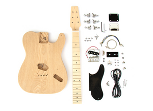 DIY Electric Guitar Kit - Ash TL Snakehead Build Your Own Guitar