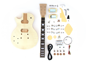 DIY Electric Guitar Kit Singlecut Style Build Your Own Guitar Kit - Lefty