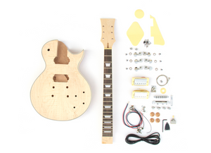 DIY Electric Guitar Kit Singlecut Solid Maple Cap Mahogany Style Build Your Own Guitar Kit