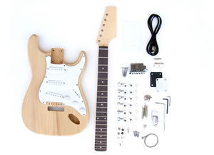DIY Electric Guitar Kit - Ash ST Style Build Your Own Guitar