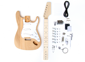DIY Electric Guitar Kit - Ash Maple ST Style Build Your Own Guitar