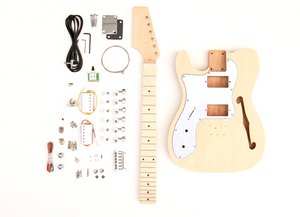 DIY Electric Guitar Kit TL Thinline Style Left Hand Build Your Own Guitar Kit