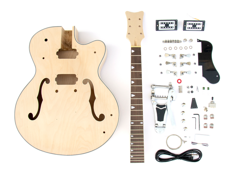 DIY Electric Guitar Kit - Hollow Body Build Your Own Guitar Kit - Rock –  The Fret Wire | Hollow Body Bass Guitar Wiring Diagram |  | The Fret Wire